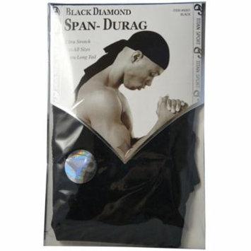 2 Pack - Titan Sport Black Diamond Span-Durag, Black 1 ea