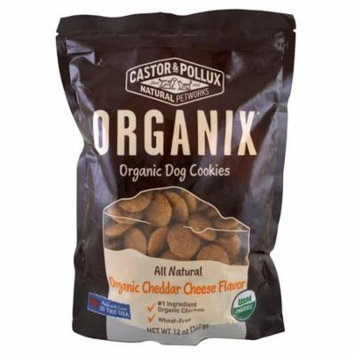 Castor & Pollux, Organix, Organic Dog Cookies, Cheddar Cheese Flavor, 12 oz (pack of 1)