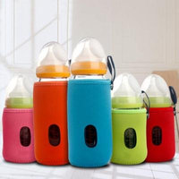 Girl12Queen Baby Infant Feeding Bottle Warmer Protective Sleeve Cup Cushion Bag 10cm/14cm