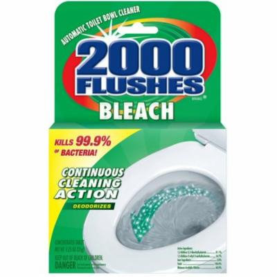 6 Pack - 2000 Flushes Bleach Antibacterial Automatic Concentrated Toilet Bowl Cleaner Tablet 1.25 oz