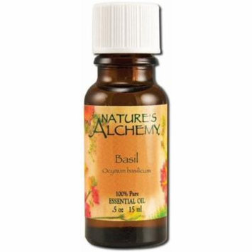 3 Pack - Nature's Alchemy Essential Oil, Basil 0.5 oz