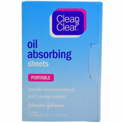 Clean & Clear, Oil Absorbing Sheets, Portable, 50 Sheets(pack of 1)