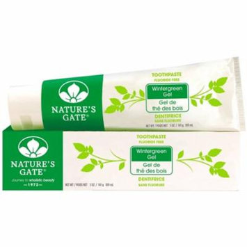 2 Pack - Nature's Gate Fluoride Free Toothpaste, Wintergreen Gel 5 oz