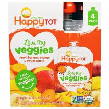 Nurture Inc. (Happy Baby), Organics, Love My Veggies, Carrot, Banana, Mango & Sweet Potato, 4 Pouches - 4.22 oz (120 g) Each(pack of 4)