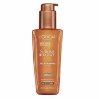 Loreal Paris Sublime Bronze Self-Tanning Serum, Medium Natural Tan, 3.4 oz, 6 Pack