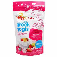 Nurture Inc. (Happy Baby), Organic Greek Yogis, Strawberry Banana, 1 oz (pack of 3)