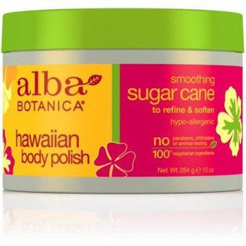 4 Pack - Alba Botanica Hawaiian Body Polish, Soothing Sugar Cane 10 oz