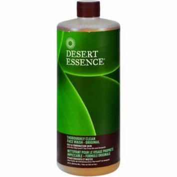 4 Pack - Desert Essence Thoroughly Clean Refill Face Wash, Original 32 oz