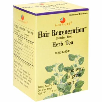 6 Pack - Health King Herbal Tea Bags, Hair Regeneration 20 ea