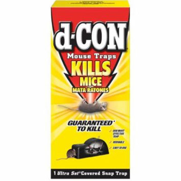 4 Pack - d-CON Reusable Covered Mouse Snap Trap, 1 Trap