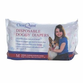 Disposable Doggie Diapers Dog Diaper Absorbant Sanitary - Bulk Packs Available (Medium 10 Pack)