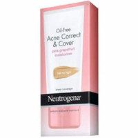 2 Pack - Neutrogena Oil-Free Acne Correct & Cover Pink Grapefruit Moisturizer, Fair to Light 1.7 oz