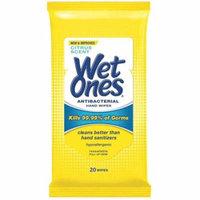6 Pack - WET ONES Antibacterial Hand Wipes, Citrus Scent 20 ea