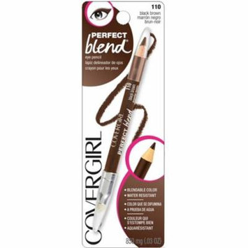 CoverGirl Perfect Blend Eye Pencil, Black Brown [110] 0.03 oz