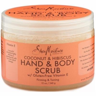 2 Pack - Shea Moisture Coconut & Hibiscus Hand & Body Scrub 12 oz