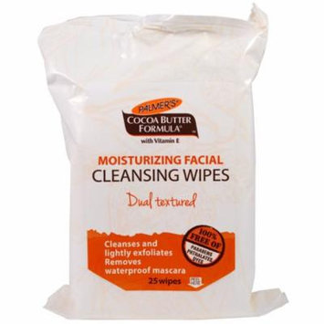 Palmer's, Cocoa Butter Formula, Moisturizing Facial Cleansing Wipes, 25 Wipes(pack of 2)