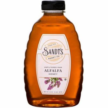6 Pack - Sandt's Unfiltered Raw Alfalfa Honey 32 oz