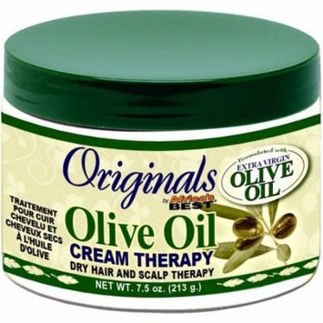 3 Pack - Africa's Best Organics Olive Oil Dry Hair and Scalp Cream Therapy 7.5 oz