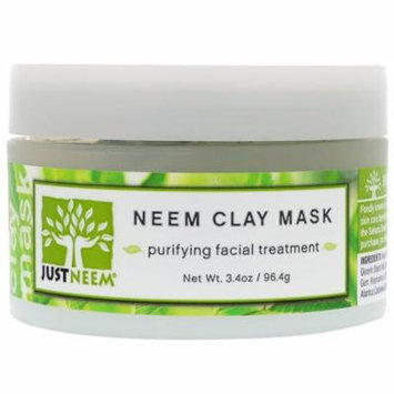 Just Neem, Neem Clay Mask, 3.4 oz (pack of 3)