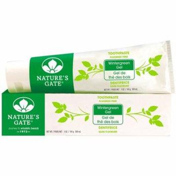 6 Pack - Nature's Gate Fluoride Free Toothpaste, Wintergreen Gel 5 oz