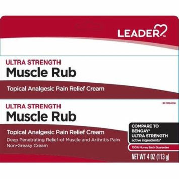 Leader Ultra Strength Muscle Pain Relief Cream, 4oz