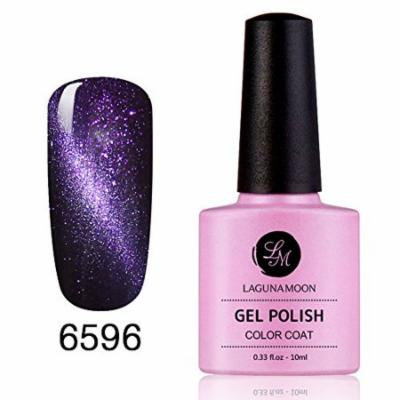 Gel Nail Polish, Magic Magnetic 3D Cat Eye Effect Soak Off Gel Nail Polish Glitter Color 6596