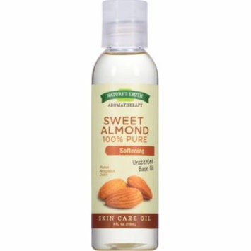 3 Pack - Nature's Truth 100% Pure Unscented Skin Care Base Oil, Sweet Almond 4 oz