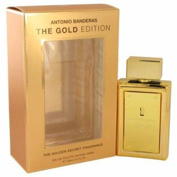 Antonio Banderas Men's Eau De Toilette Spray (The Gold Edition) 3.4 Oz