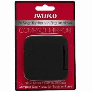 6 Pack - Swissco 5x Magnification & Regular Views Compact Mirror 1 ea