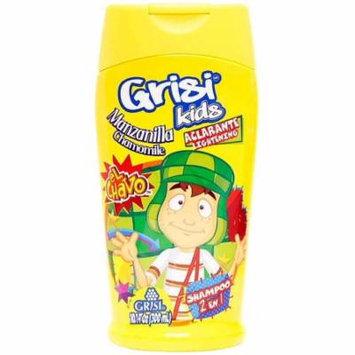 3 Pack - Grisi Kids Manzanilla Chamomille Boys 2 in 1 Lightening Shampoo & Conditioner 10.1 oz