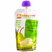 Nurture Inc. (Happy Baby), happytot, Organic Superfoods, Green Bean, Pear and Pea, 4.22 oz (pack of 6)