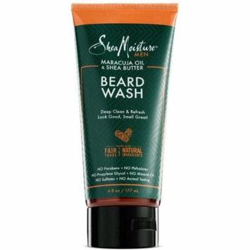 6 Pack - Shea Moisture Men Maracuja Oil & Shea Butter Beard Wash 6 oz