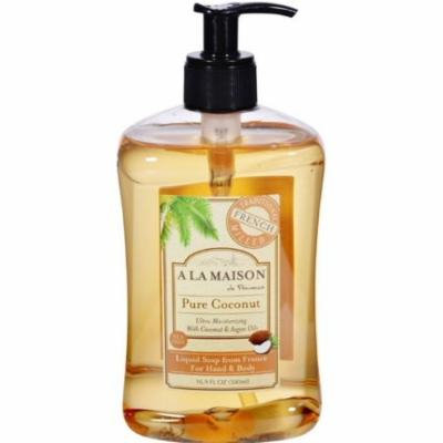 3 Pack - A LA MAISON Hand & Body Liquid Soap, Pure Coconut 16.90 oz
