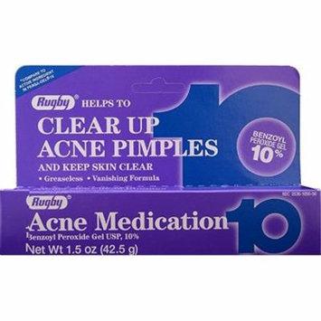 6 Pack - Rugby Acne Medication Gel Benzoyl Peroxide 10% 1.5 oz