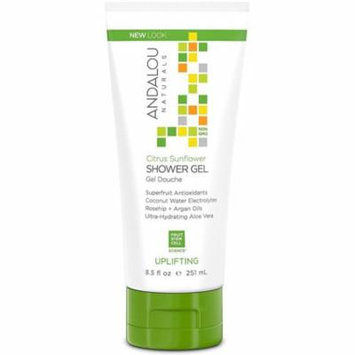 3 Pack - Andalou Naturals Uplifting Shower Gel, Citrus Sunflower 8.50 oz