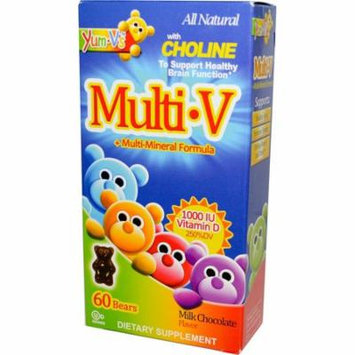 Yum-V's, Multi·V + Multi-Mineral Formula, Milk Chocolate Flavor, 60 Bears(pack of 4)