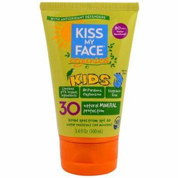 Kiss My Face, Organics, Kids, Face & Body Mineral Sunscreen, SPF 30, 3.4 fl oz (pack of 3)