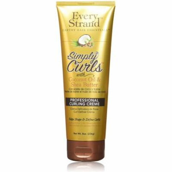 6 Pack - Every Strand Curling Creme Simply Curls Coconut Oil & Shea Butter 8 oz