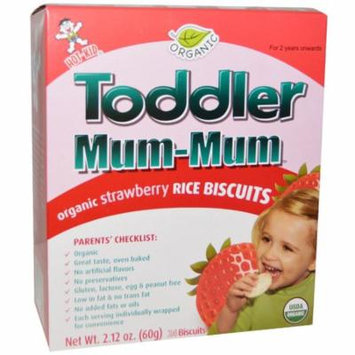 Hot Kid, Toddler Mum-Mum, Organic Strawberry Rice Biscuits, 24 Biscuits, 2.12 oz(pack of 4)