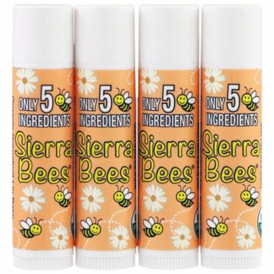 Sierra Bees, Organic Lip Balms, Grapefruit, 4 Pack, .15 oz(pack of 6)
