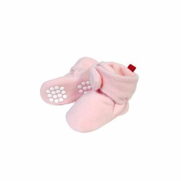 Wrapables® Fleece Baby Booties with Anti-Skid Bottoms, Pink, 0-6 M