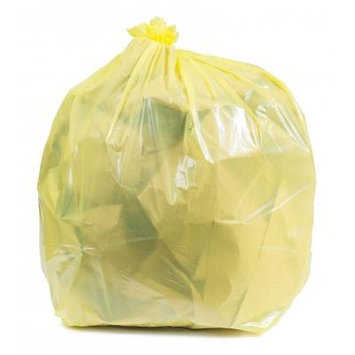 Plasticplace 40-45 Gallon Trash Bags - Yellow, case of 100 bags