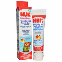 NUK, Fluoride-Free Tooth & Gum Cleanser, Apple & Banana, 1.4 oz(pack of 1)