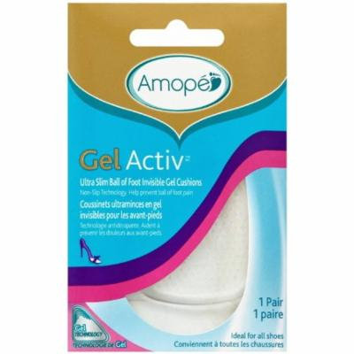 2 Pack - Amope GelActiv Ultra Slim Ball of Foot Insoles for Women, 1 pair, Size 5-10