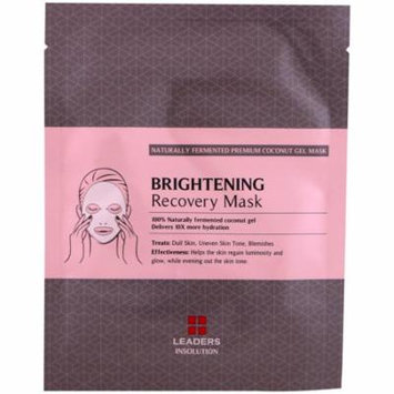 Leaders, Coconut Gel Brightening Recovery Mask, 1 Mask, 30 ml(pack of 12)