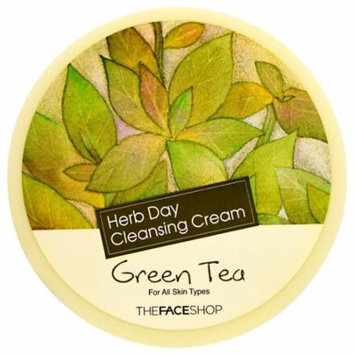The Face Shop, Herb Day Cleansing Cream, Green Tea, 5 oz(pack of 2)