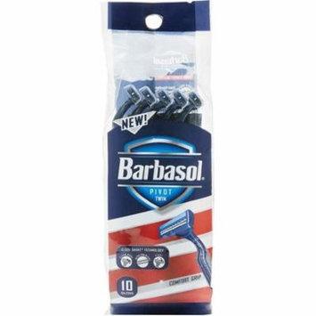 2 Pack - Barbasol Pivot Twin Premium Disposable Razor 10 ea