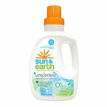 Sun & Earth Natural Fabric Softener - Unscented (40oz) (PACK OF 1)