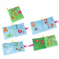 Womail New Soft Cloth Baby Intelligence Development Learn Picture Cognize Book B