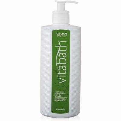2 Pack - Vitabath Moisturizing Bath & Shower Gelee, Original Spring Green 21 oz